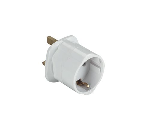 UK Visitors' Travel Adaptor (European Schuko to UK)