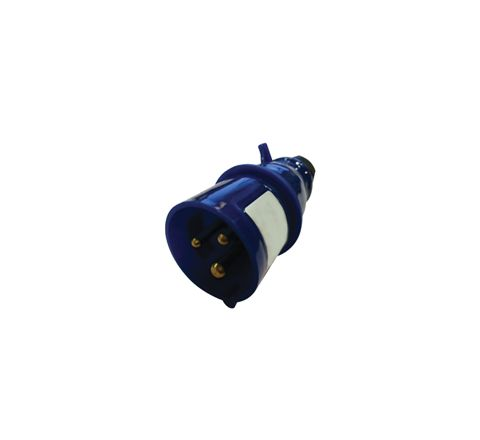 230 V Blue 16 A 3 Contact High Current In-line Plug