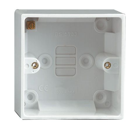 Single Gang Surface Box (Mounting Depth (mm) 47)