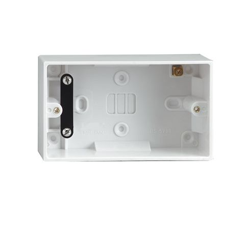 2 Gang Surface Pattress Box 47mm (Type Earthed)