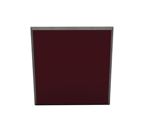 60 X 60 X 5CM FABRIC FACED TILE (Pack of 6) (Colour Burgundy)