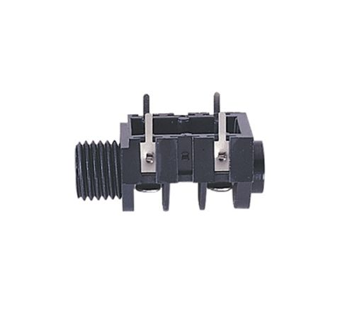 6.35 mm Switched 4 Contact Mono Chassis Socket with Solder Terminals (PCB or Chassis Mount)