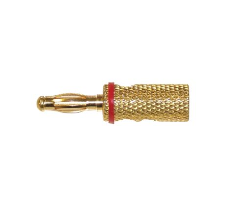 4mm Gold Plated Banana Plugs Set of 4  Red