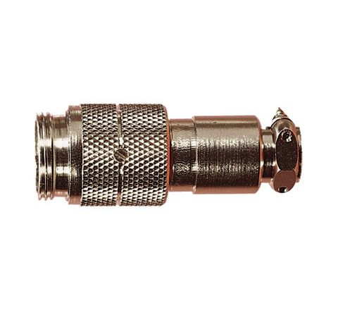 Nickel High Quality Multi Contact Line Plug with Cable Grip and Solder Terminals (Number of Contacts 5)