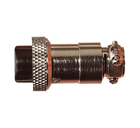 Multi Contact Line Socket with Cable Grip and Solder Terminals (Number of Contacts 6)