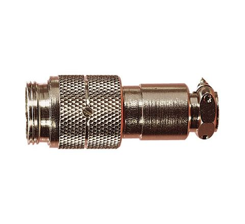 Nickel High Quality Multi Contact Line Plug with Cable Grip and Solder Terminals (Number of Contacts 4)