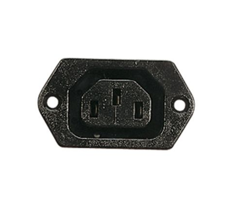 3 Pin IEC Chassis Socket (Outlet) 6A