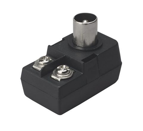 9.5 mm Right Angled Coaxial Line Plug with Balun Transformer