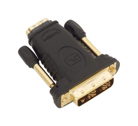 HDMI Socket to DVID Plug Adaptor Gold Plated