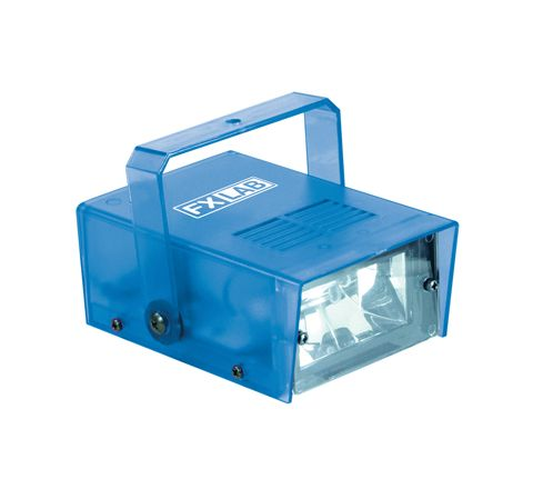 FX LAB Blue 14 W Plastic Mini Strobe (Colour Blue)