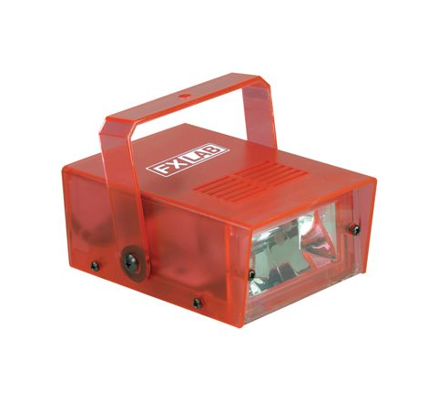 FX LAB Blue 14 W Plastic Mini Strobe (Colour Red)