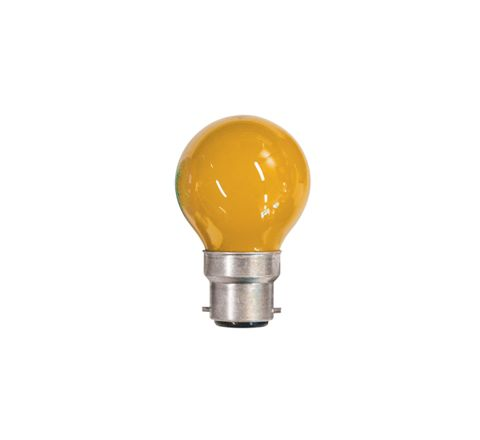 15W Coloured Carnival Lamp With BC Cap (Colour Amber)
