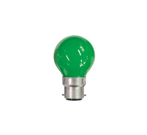 15W Coloured Carnival Lamp With BC Cap (Colour Green)
