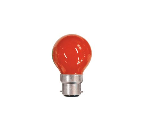 15W Coloured Carnival Lamp With BC Cap (Colour Red)
