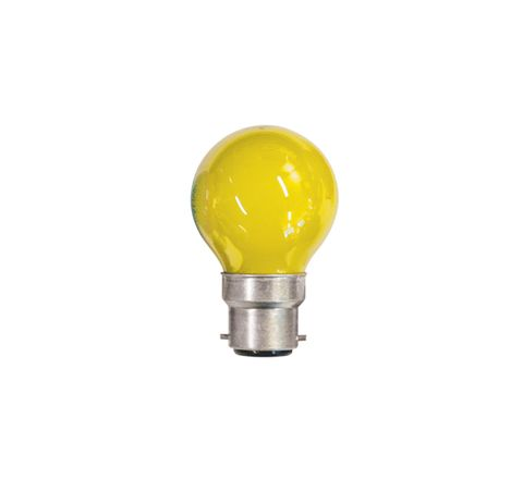 15W Coloured Carnival Lamp With BC Cap (Colour Yellow)