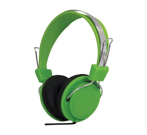 Street Style Coloured Digital Stereo Headphones (Colour Green)