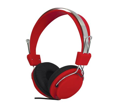 Street Style Coloured Digital Stereo Headphones (Colour Red)