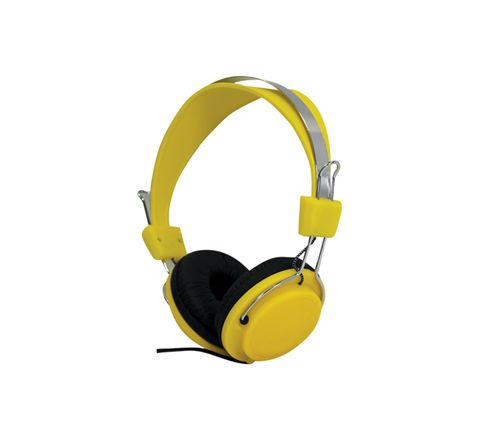 Street Style Coloured Digital Stereo Headphones (Colour Yellow)