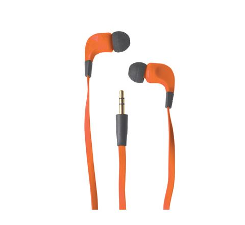 Ribbon Type Digital Stereo Earphones With Anti-Tangle Cable (Colour Orange)