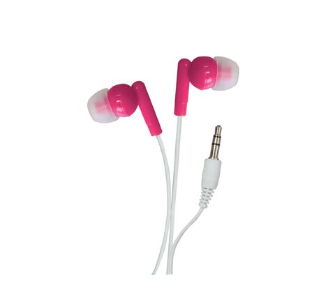 In-Ear Stereo Earphones (Colour Pink)