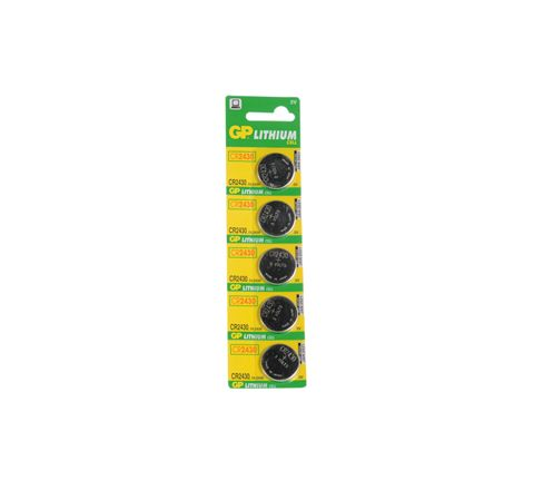 GP Lithium Button Cell Strip of 5 (Type CR2430-C5)