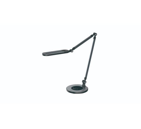 LED desk lamp with adjustable 3 colour temperature, stepless diming with night light function, QI wireless charging for your mobile device, multi angle rotation, touch control and intelligent memory function.
