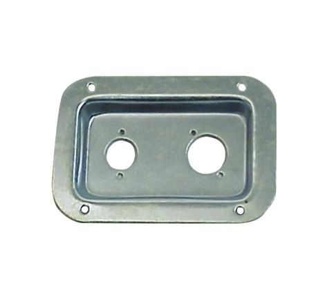 Punched Metal Connector Dish for 2x XLR Sockets (Colour Nickel)