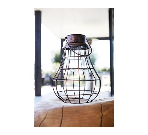 Luxform Lighting Solar Rumba Metal Lantern - Copper