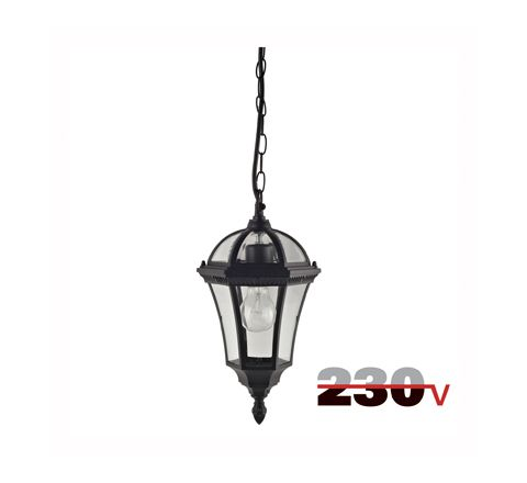 Luxform Lighting Victoria 230V Hanging Chain Light in Black