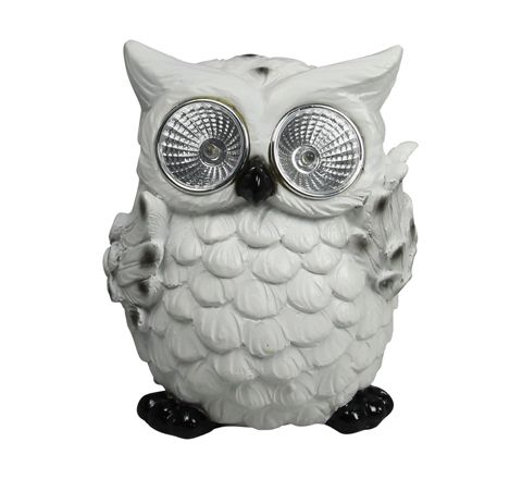 Luxform Lighting Animal Solar Light - Display Box of 6 (Type White Owl)