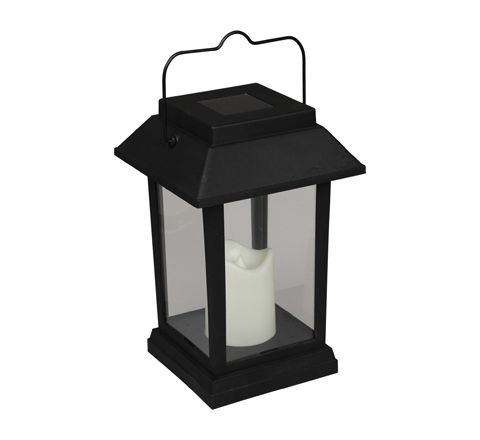 Luxform Lighting Solar Bali Hanging Lantern in Black