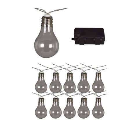 Luxform Lighting Battery Stringlights - 10 Clear Bulbs