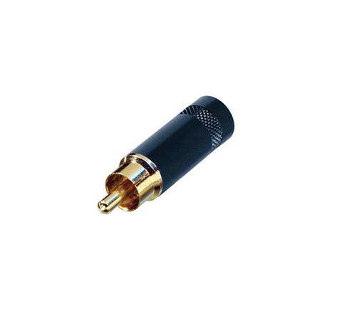 REAN NYS352 Metal Phono Plug With Gold Plated Terminals (Colour Black)