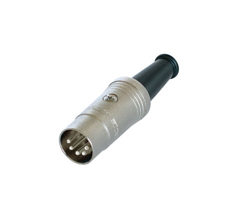 REAN NYS321G 3 Pin DIN Plug with Rubber Boot and Gold Plated Contacts (Number of Pins 5 Contact Material Silver Plate)