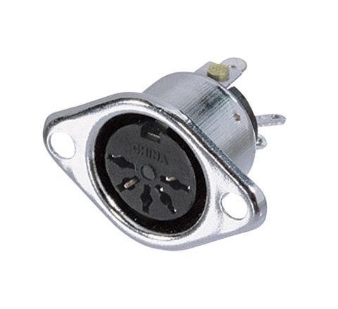 REAN NYS324 3 Pin Female DIN Chassis Socket With Silver Plated Contacts (Number of Pins 5)