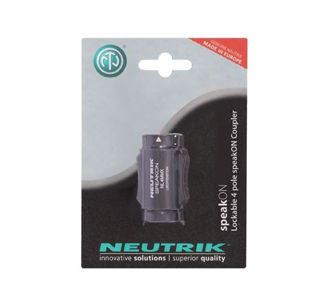 Neutrik NL4MMX-POS 4 Pin Male-Male Speakon Coupler Blister