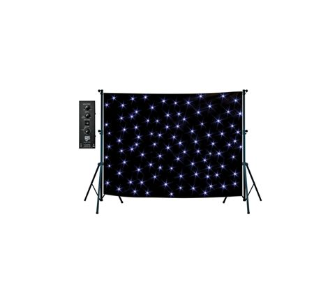 NJD LED Star Cloth Kit (6 x 6 m) Black
