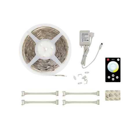NJD Warm White / Cool White LED Tape Light Kit with 300 x 3528 LEDs (5m)
