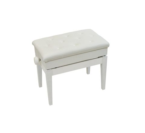 Luxury Adjustable Piano Bench with Storage Compartment (Colour White)