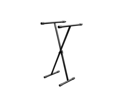 New Jersey Sound Folding Heavy Duty X Frame Type Keyboard Stand With Height Adjustment in Black