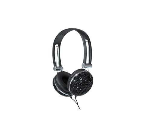 Stereo Headphones Black Crystal Effect