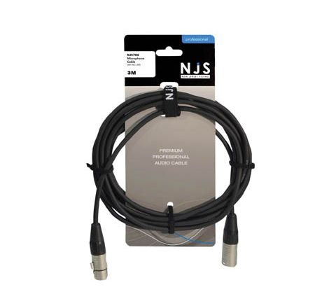 XLR Female to XLR Male Microphone Cable (Lead Length (m) 3)