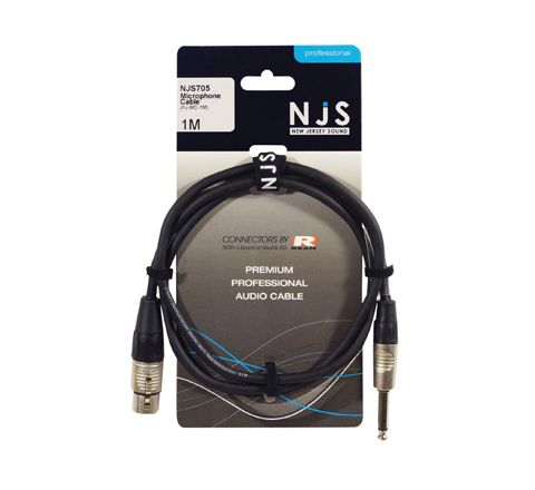 XLR Female to 6.35mm Mono Jack Microphone Cable (Length (m) 1)
