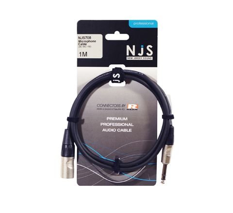 Male XLR Male to 6.35mm Mono Jack Microphone Cable (Length (m) 3)