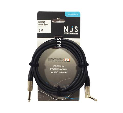 Mono Jack to Mono Jack Right Angle Guitar Cable (Lead Length (m) 3)