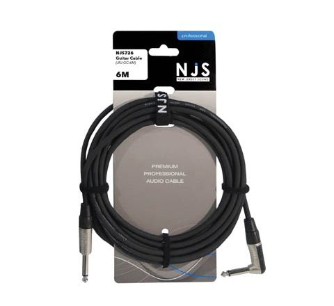 Mono Jack to Mono Jack Right Angle Guitar Cable (Lead Length (m) 6)