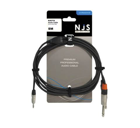 3.5mm Stereo Plug to 2 x 6.35mm Mono Plugs Signal Cable (Lead Length (m) 5)