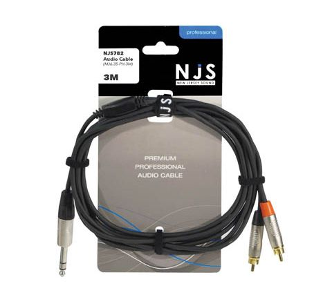 6.35mm Plug (Stereo or Mono) to 2 x RCA Phono Plugs Signal Cable (Lead Length (m) 5)