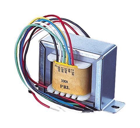 100 V Line Transformer Converting Line Signal To 8/16 Ohm With Tapings 2,4,8 W