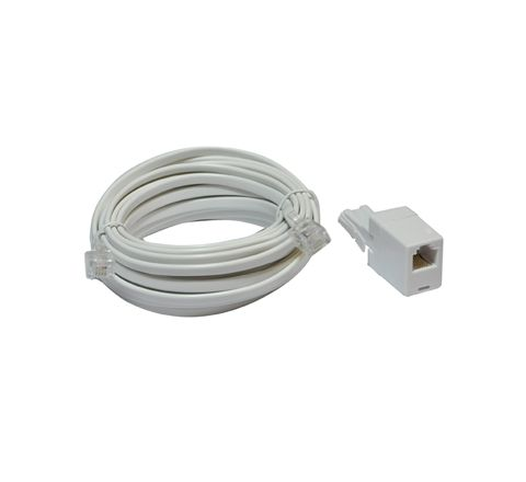 ADSL Modem Lead (US to US Plugs) with UK to US Adaptor (Length (m) 5)